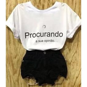 159b8e145 T-shirt Feminina Ranço Estampa Blusa Varias Frase Escolhe