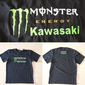 e80543d658fa1 Camiseta Monster Energy Kawasaki no Mercado Livre Brasil