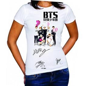 b31dc3cd9870b Camisetas Bts Coração Autografo Baby Look Kpop Bangtan Boys