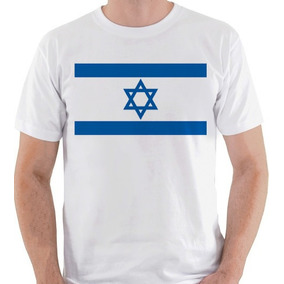 25856d798f5ef Camiseta Unissex Bandeira Israel Judaísmo País Camisa Blusa