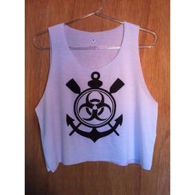 3979a073d74b6 Cropped Preto Corinthians - Camisetas e Blusas no Mercado Livre Brasil