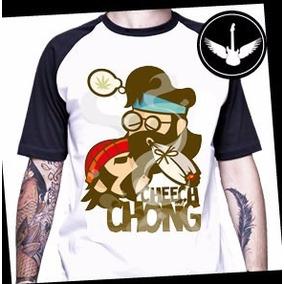 4971242e2 Camiseta Raglan Cheech And Chong Filme Queimando Tudo
