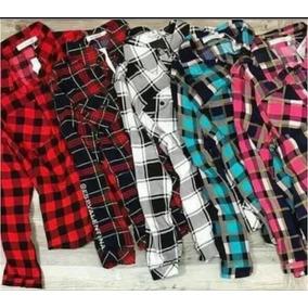 40168865e Roupas Femininas Atacado Kit 02 Camisa Blusa Xadrez Feminina