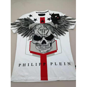 57b4daf6bf03a Camiseta Grife Philipp Plein Pedrarias Coleção Nova 2019