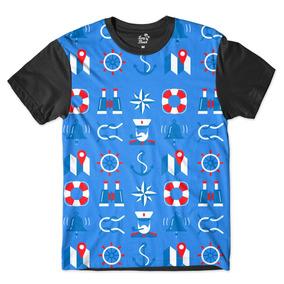 c8bbbb2fa Camisa Camiseta Masculina Náutica Boiá Marinheiro Full Print