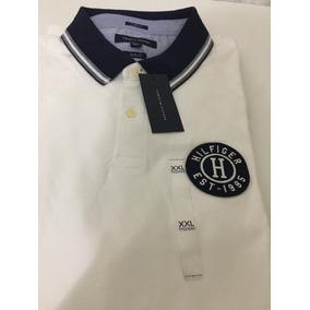 ed578ec0f3fe4 Camisa Polo Tommy Hilfiger Masc Branco Tam Ggg 100% Original