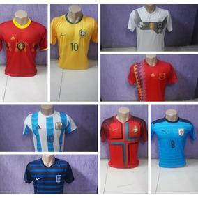 661920e67a469 Camisa Copa Do Mundo Seleções Brasil Espanha França Alemanha
