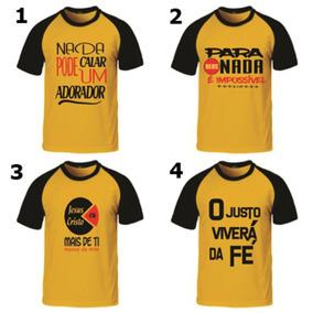 577d5e879 Camiseta Evangelica Estampa Criativa - Camisetas Manga Curta no Mercado  Livre Brasil