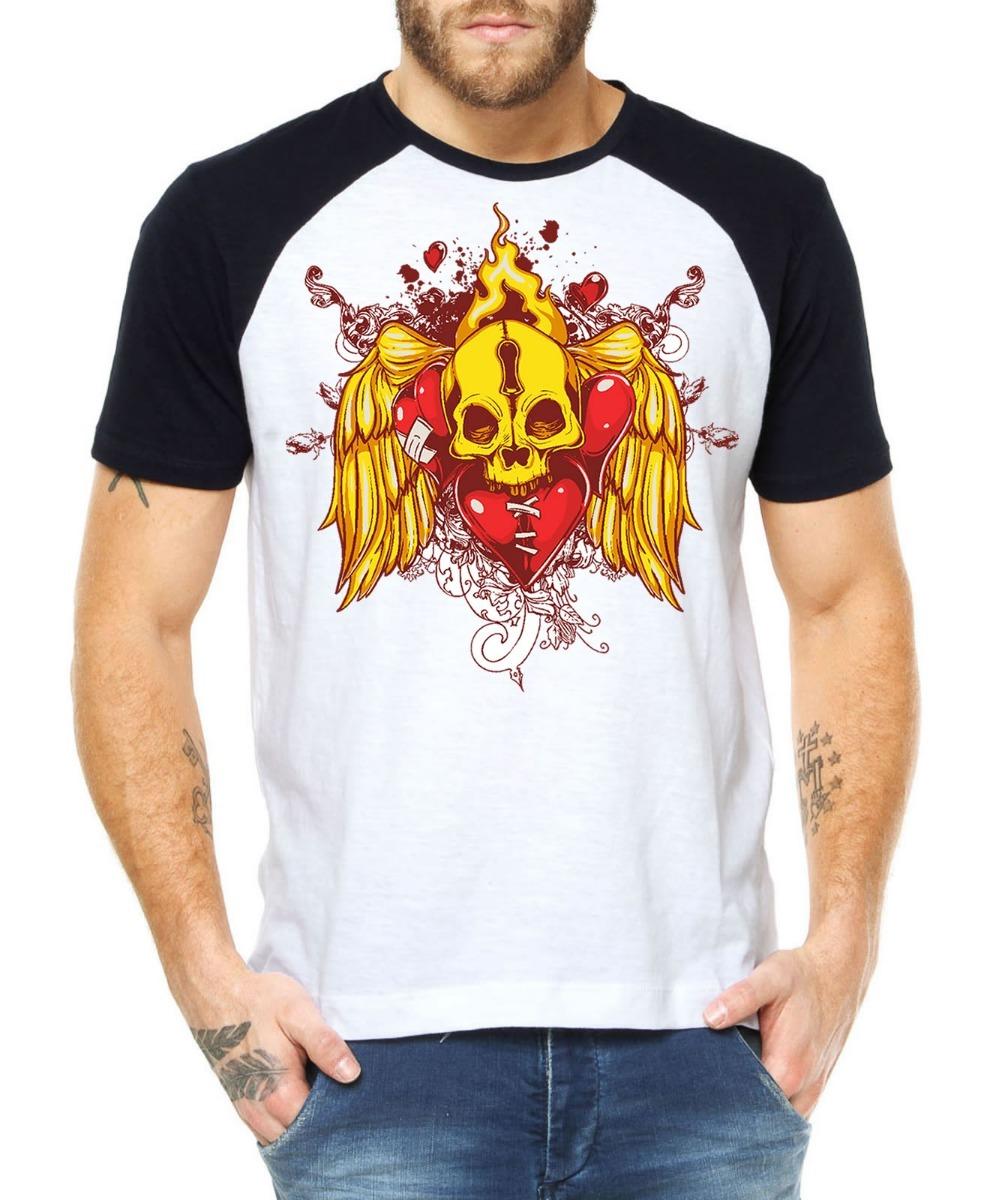 camisetas caveira moda roupas estampas camisas alternativas. Carregando zoom . 33ce08f6e5504