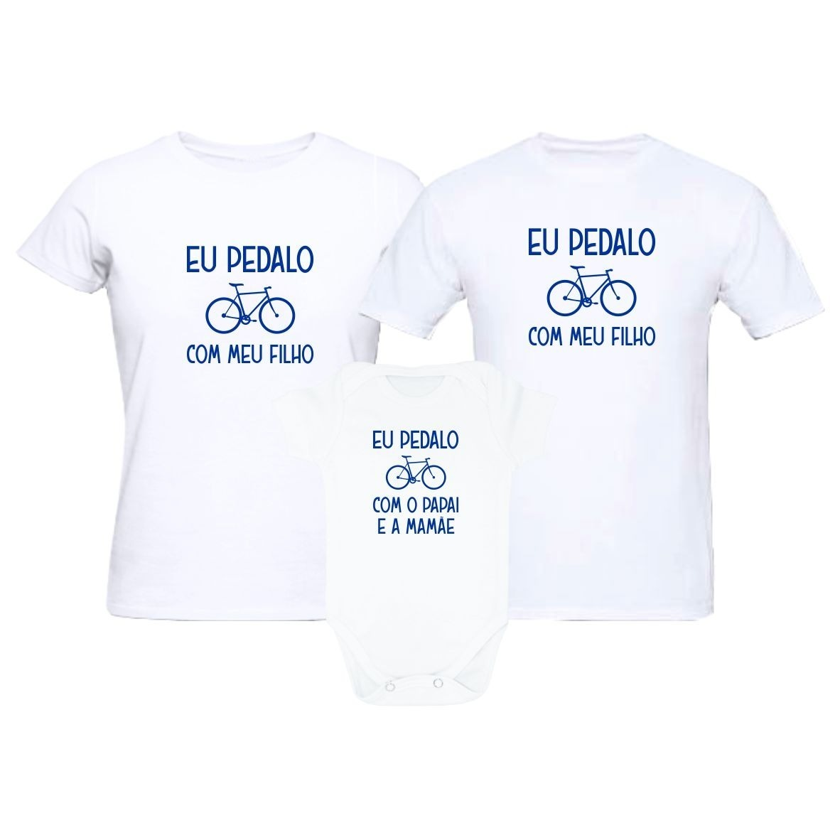 5ad7a6a9d Camisetas Ciclismo Kit Família Pedalo Com Meu Filho(a) - R$ 104,90 ...