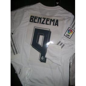 fe480aacc9a01 Camiseta Del Real Madrid Negra Manga Larga - Camisetas en Mercado ...