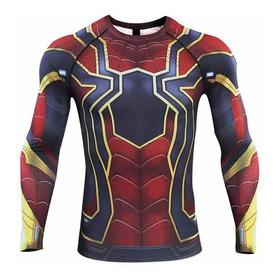 Camisetas Compresion Lycra Marvel Flash, Superman, Spiderman