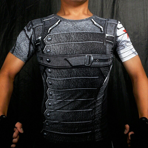 camisetas compression de super heroes / avengers / gimnasio