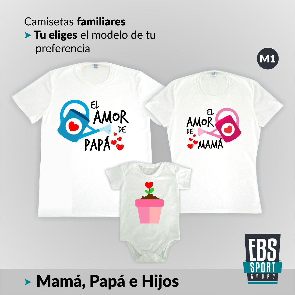 disponible fabricación hábil color rápido Camisetas Con Body Set 3 Papa Mama Bebe Hijo Hija Familia