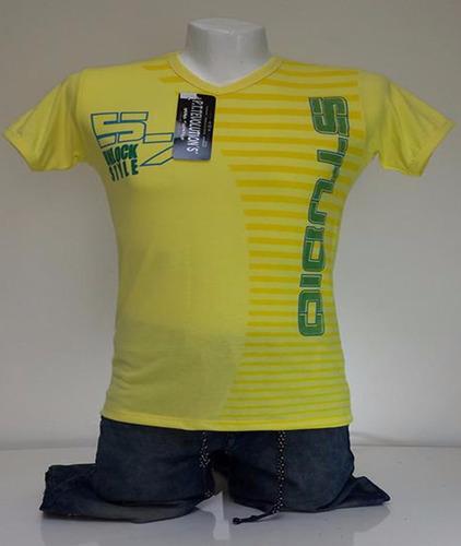 camisetas cuello en v   5 por  $60.000