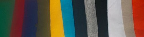 camisetas cuello en v, redondo colores en algodón 180 gr.