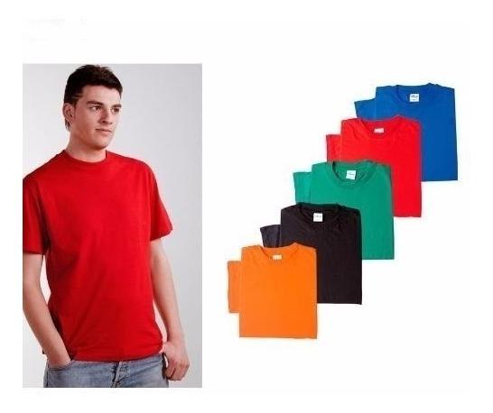 7dc4bfcf19a Camisetas Cuello En V, Redondo Colores En Algodón 180 Gr. - $ 8.900 ...