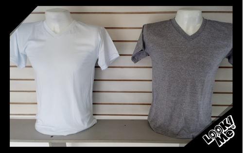 camisetas cuello polo, en v, cuello redondo y manga larga