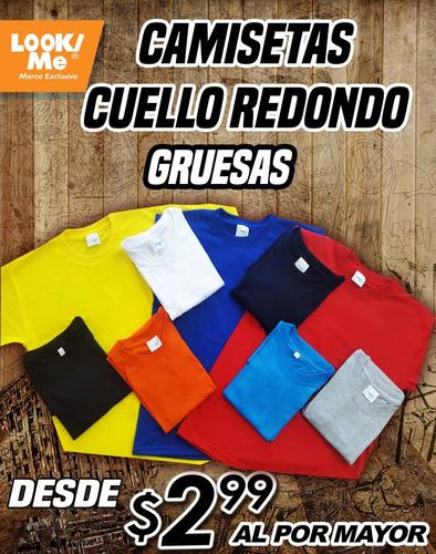 camisetas cuello redondo, camisetas polo, camisetas en v