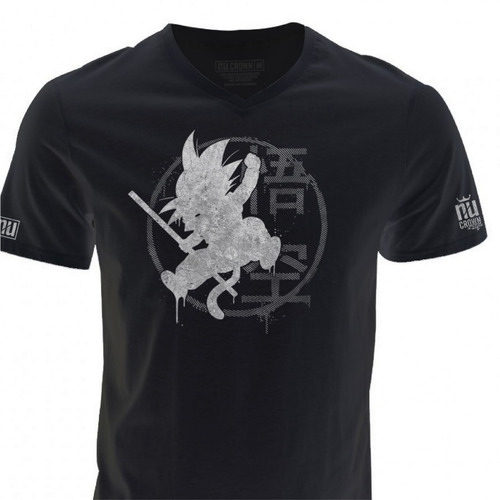 camisetas cuello v estampadas goku superheroes hombre ecv