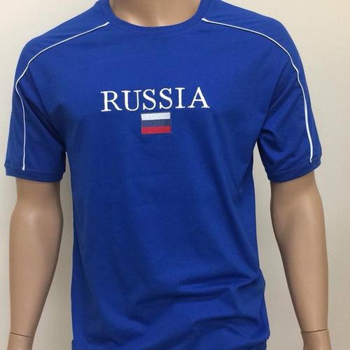 camisetas da china, rússia bordadas
