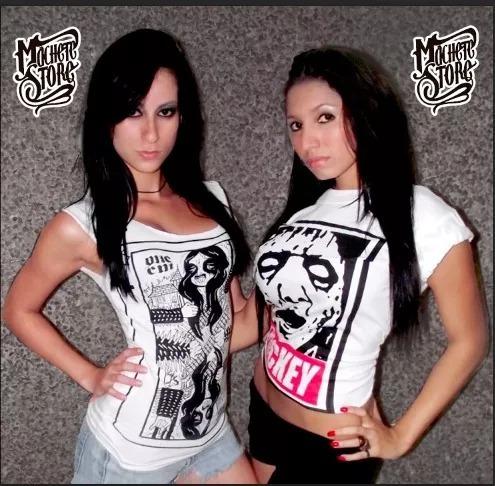 camisetas de dama de bandas de rock