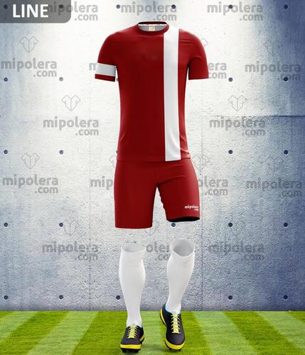 camisetas de fútbol personalizadas modelo line mipolera