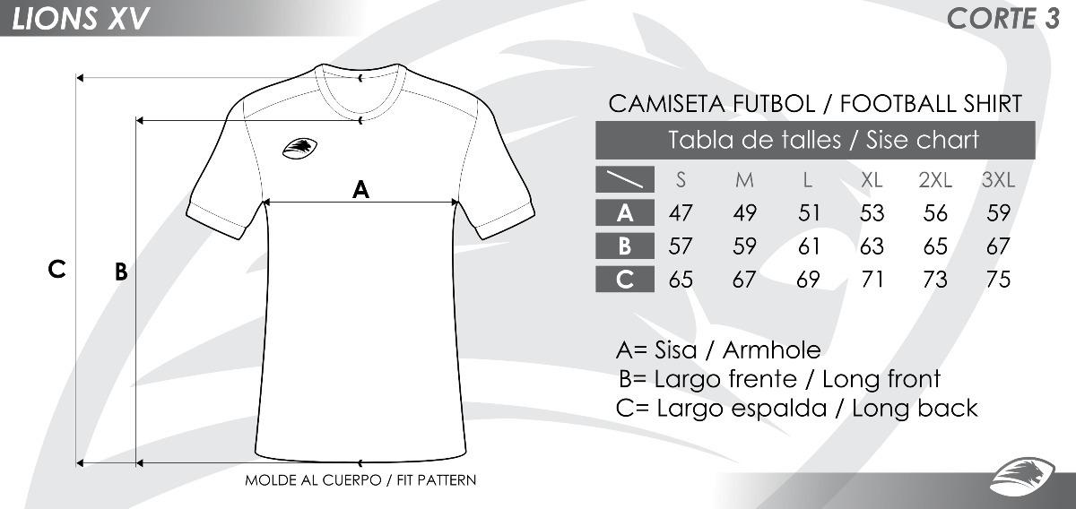 camisetas de futbol personalizadas por unidad lions xv. Cargando zoom. aabd051c96735