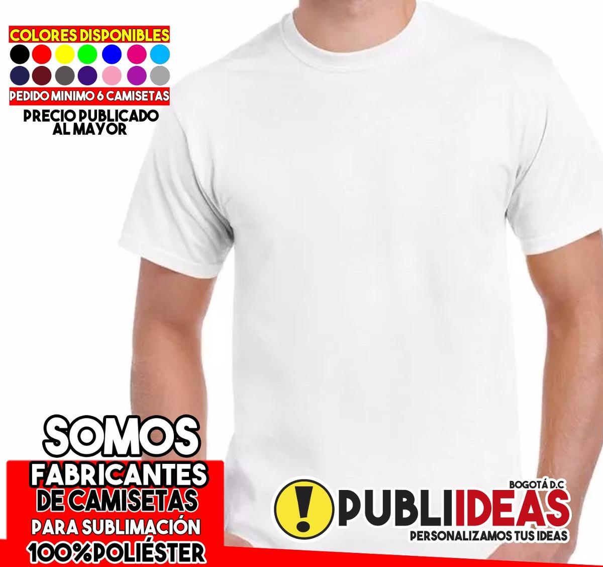 Camisetas De Sublimación Poliester 100% X Docena -   5.100 en ... 3c8bd1fb3946f
