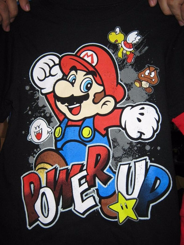 camisetas de super mario bros importadas usa xs 4/5 nwt