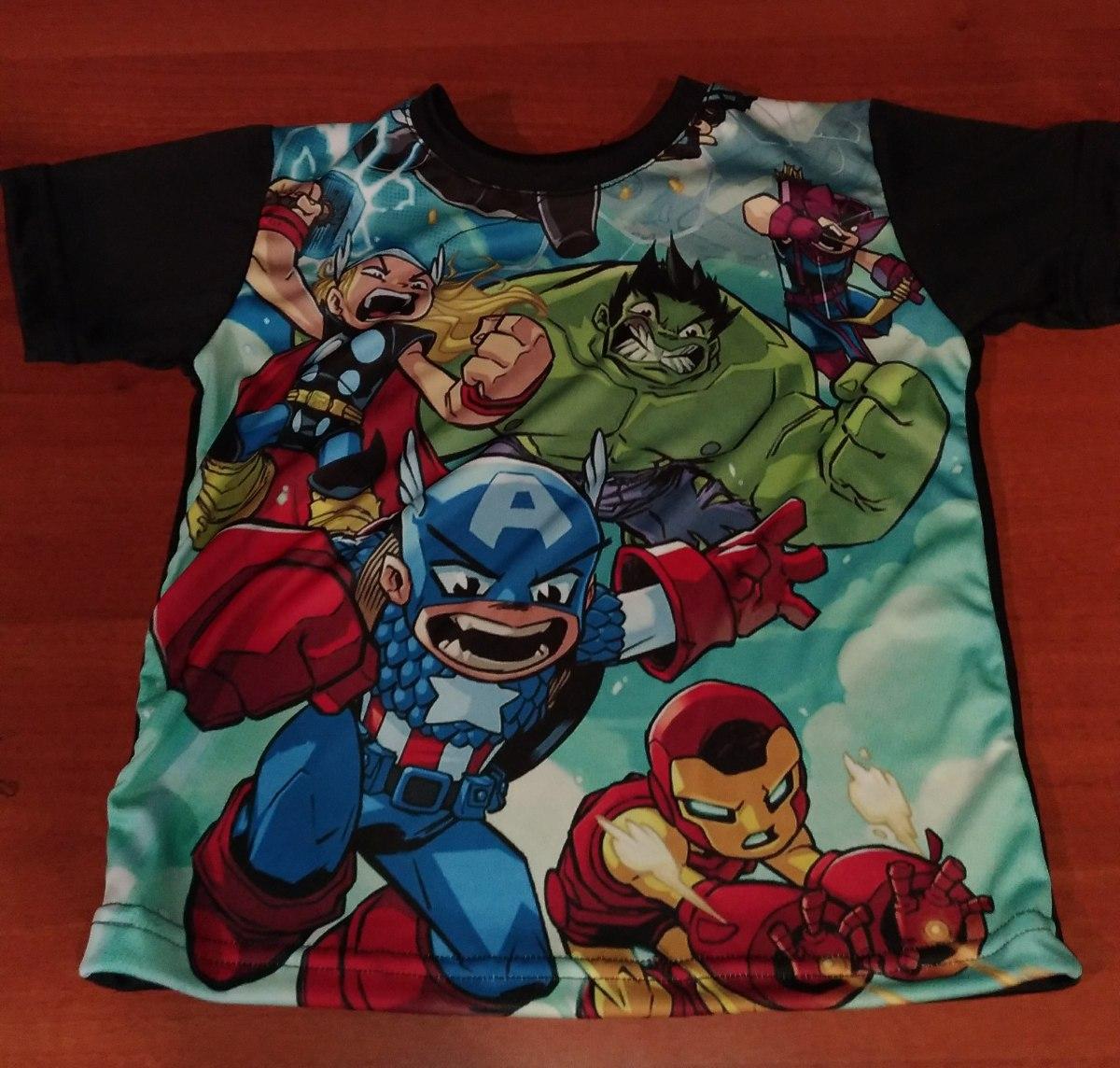 Camisetas De Superheroes Y Dibujos Animados Para Niños - $ 22.900 en ...
