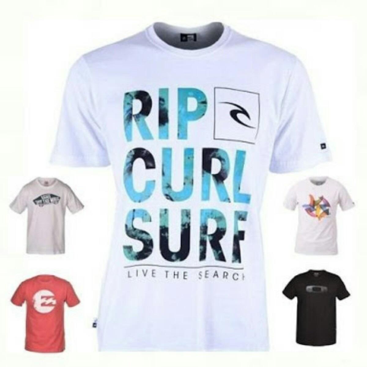 Camisetas De Surf Diversas Estampas Pronta Entrega - R  36 5df3f991a1e