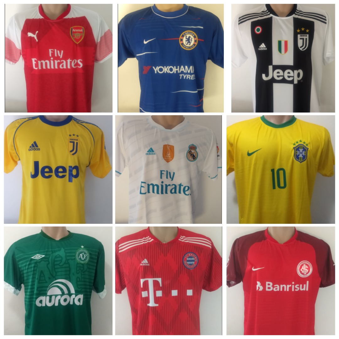 Camisetas De Time Atacado - Kit C  10 Allteam® - R  189 75f42b1769634