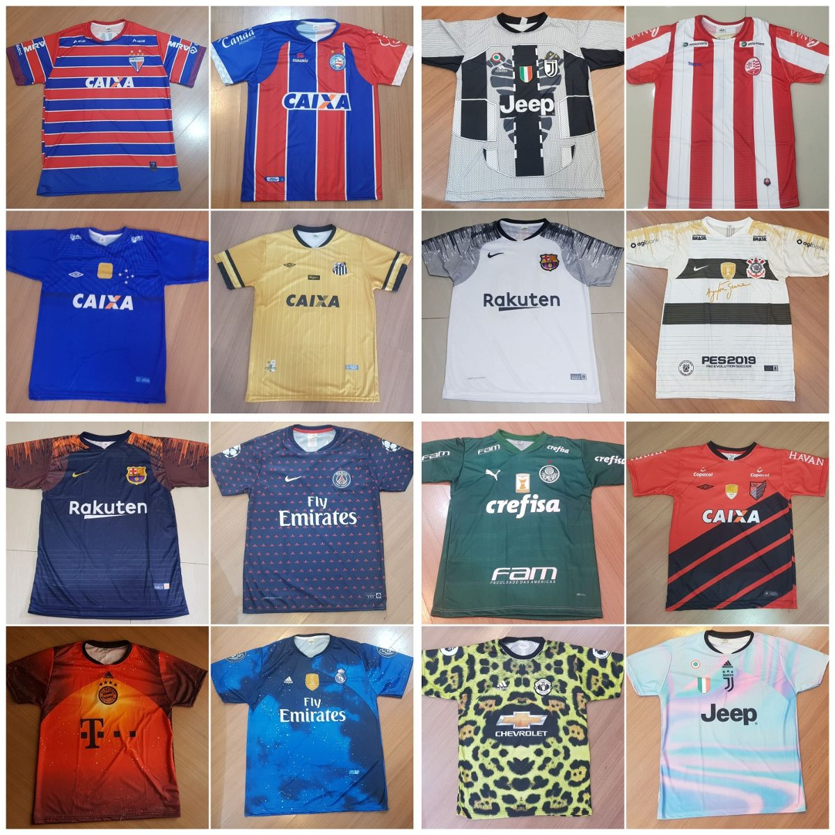 2aa8055fec8b5 camisetas de times de futebol 10 unidades. Carregando zoom.