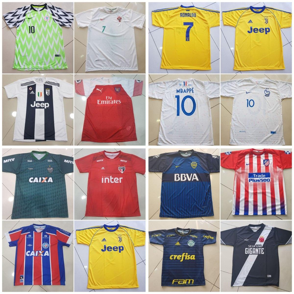 68a6e20b3d Camisetas De Times De Futebol-kit 10 Unidades- P  Revenda - R  184 ...