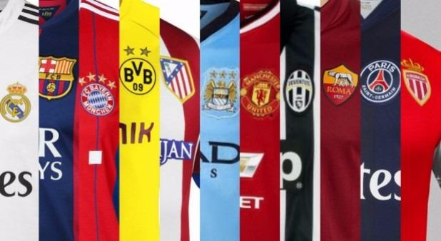 da4a653d44c6d Camisetas Equipos Europeos 2014 - 2015 Real Barce Chelsea ...