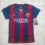 Camisa Franela Barcelona Fc Real Madrid 2014-2015 Niños