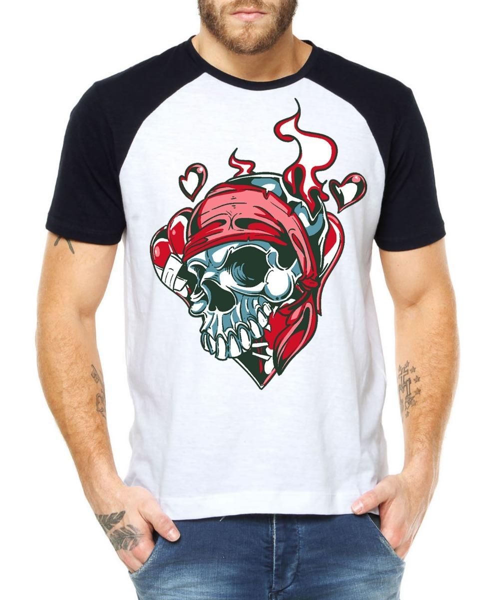 d09991ab1 camisetas estilosas caveira love estampa camisas criativas. Carregando zoom.