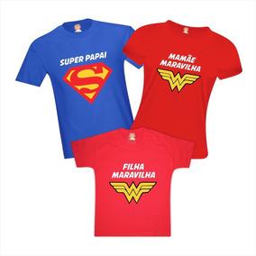 9a2874c2de06 Camiseta Vingador Pai Mae Filho - Calçados, Roupas e Bolsas com o Melhores  Preços no Mercado Livre Brasil