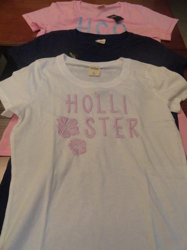 camisetas femininas hollister - 100% original !!!!