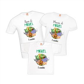 dd69a48b39 Aniversario Camiseta Safari Menino - Camisetas Manga Curta no Mercado Livre  Brasil