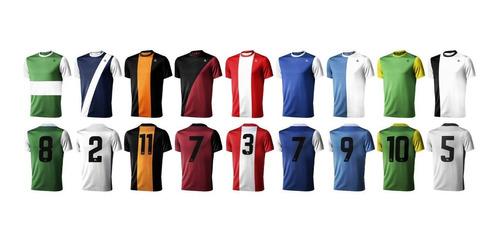 camisetas futbol equipos numeradas x20 un entrega inmediata