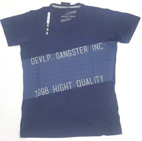 7a4c346632 Camiseta Malha Fria Gola V - Camisetas Manga Curta para Masculino no ...