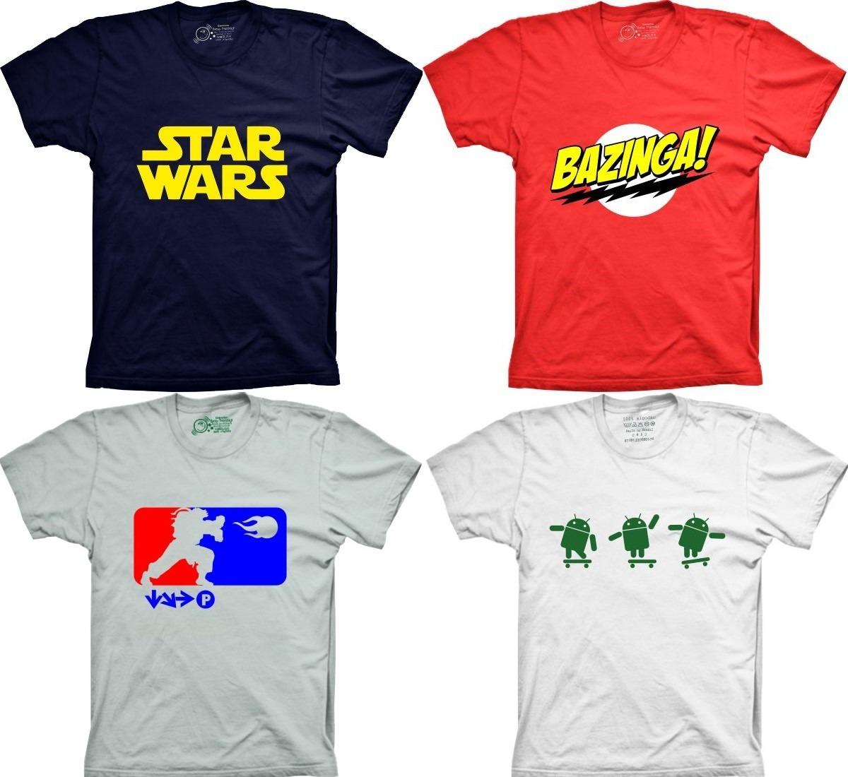 Camisetas Geeks Nerds Seriados Filmes Engraçadas Bandas