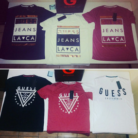 diseño de calidad código promocional una gran variedad de modelos Camisetas Guess 100% Originales Hombres!!