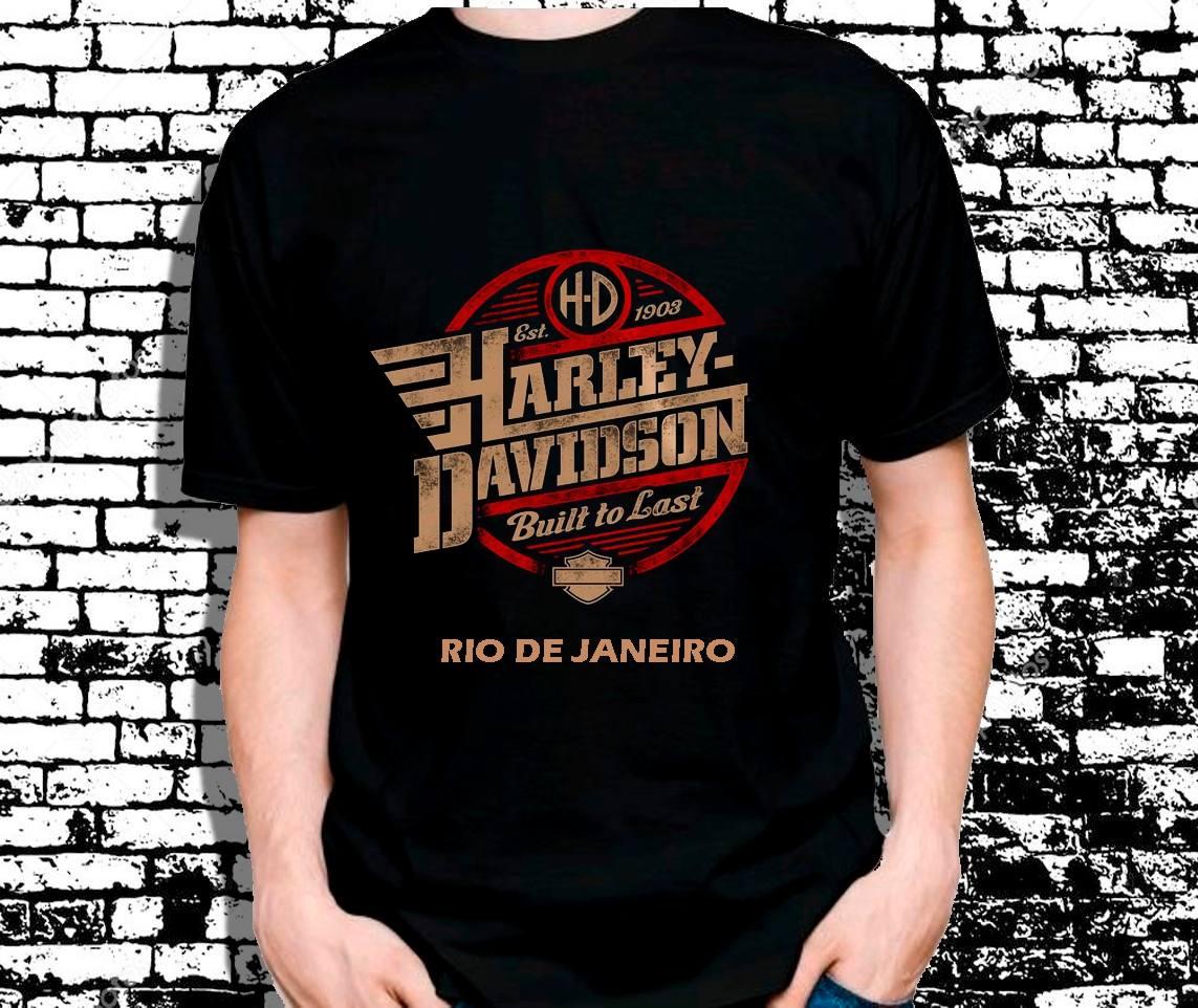 camisetas harley davidson personalizada motociclista. Carregando zoom. 2568a072f26