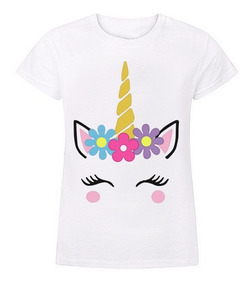 1a74fdc29 Camisetas Infantiles Para Niñas Unicornio Estampadas