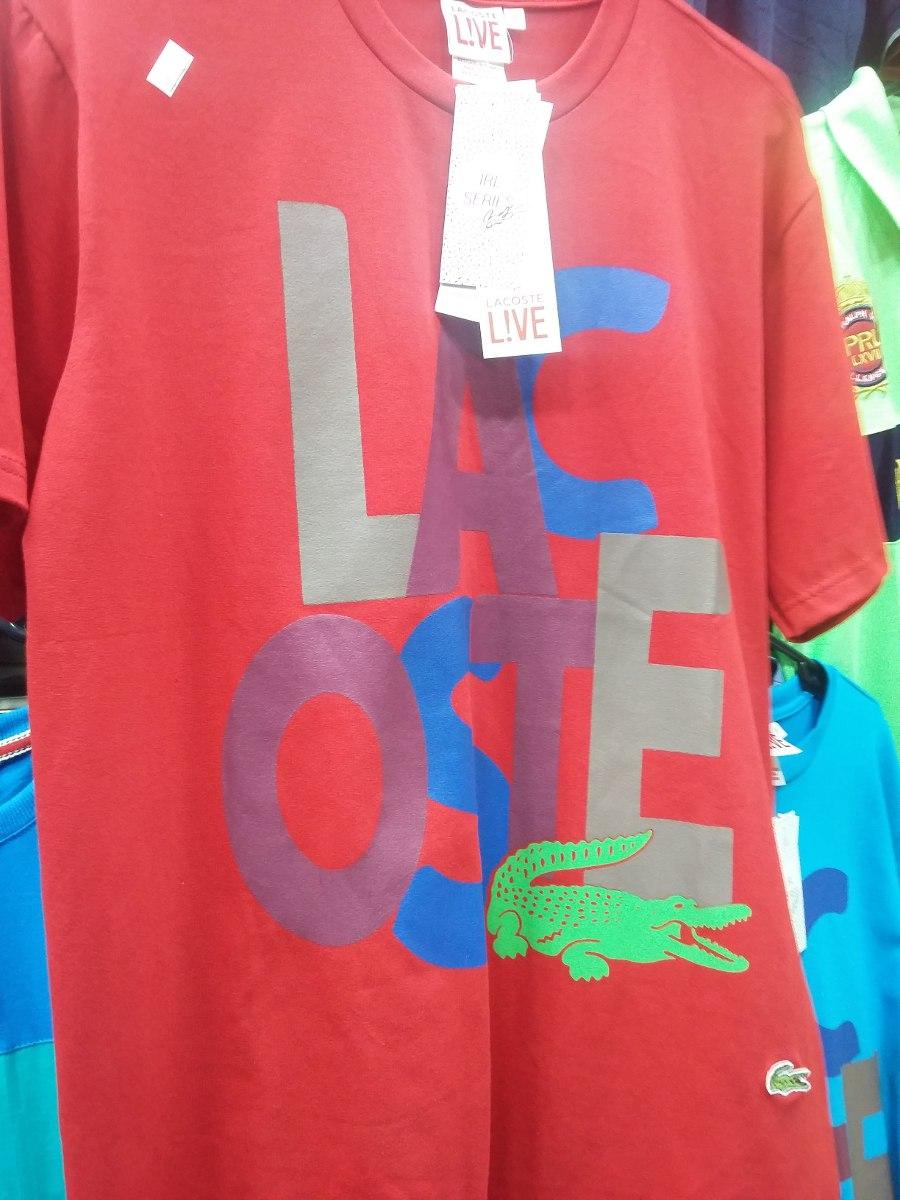 Camisetas Lacoste Estampadas - R  55,00 em Mercado Livre 1d23783a63