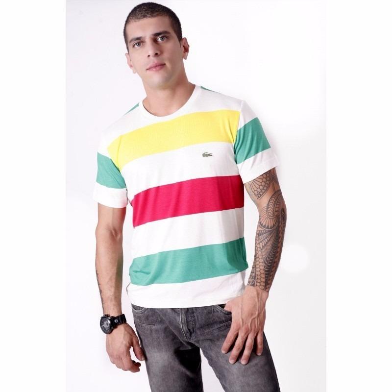 Camisetas Lacoste Listradas Originais R 529 00 Em Mercado Livre