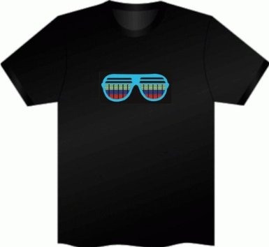 camisetas led iluminados por sonido